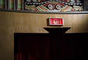 Exit Sign Prints - Elegant Exit Print by Fred Lassmann