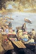 Regatta Prints - Elegant Henley Print by Peter Miller