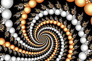Pearls Digital Art - Elegant Swirls by Carolyn Marshall