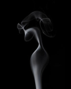 Smoke Art Prints - Elegant Woman Print by Bryan Steffy