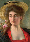 Thinker Paintings - Elegante by Albert Lynch