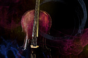Remix Prints - Elemental Cello Remix Print by Sam Hymas