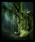 Fantasy Tree Posters - Elemental Earth Poster by Karen Koski