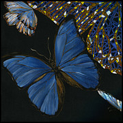 Elena Yakubovich Paintings - Elena Yakubovich - Butterfly 2x2 lower left corner by Elena Yakubovich