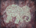 Maze Art - Elephant - Animal Series by Jennifer Kelly