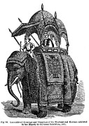 Turban Framed Prints - Elephant & Howdah, 1851 Framed Print by Granger