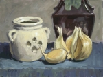 Still Life Prints Paintings - Elephant Garlic by Stuart Roper