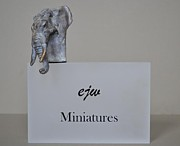 Animal Sculpture Originals - Elephant Large by Edward  Waites