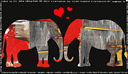 Nyigf Licensing Mixed Media - Elephant Love Kids Licensing Art by Anahi DeCanio