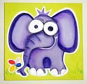 Jungle Pastels Originals - eLePHANT by Mara Morea