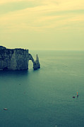 Natural Arch Posters - Elephant Rock In Etretat, Normandy In France Poster by Photo by Ira Heuvelman-Dobrolyubova