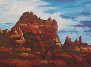 Sedona Painting Prints - Elephant Rock Print by Sandy Tracey