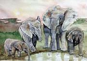 Paula Steffensen Art - Elephants for Mum. by Paula Steffensen