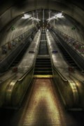 Escalator Framed Prints - Elevate My Mind  Framed Print by Yhun Suarez