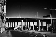 Kingston Prints - elevated M8 motorway in Glasgow city centre Scotland UK Print by Joe Fox