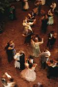Entertainers Photo Prints - Elevated View Of Ballroom Dancers Print by Ira Block