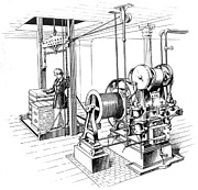 Pulley Prints - Elevator, 1862 Print by Granger