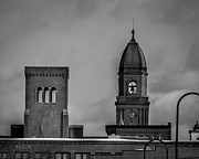 Lewiston Metal Prints - Eleven Twenty Says The Clock In The Tower Metal Print by Bob Orsillo