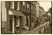 City Scape Metal Prints - Elfreths Alley Metal Print by Jack Paolini