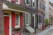 Brick Buildings Framed Prints - Elfreths Alley Framed Print by John Greim