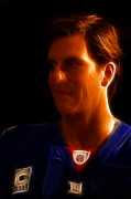 Champs Prints - Eli Manning - New York Giants - Quarterback - Super Bowl Champion Print by Lee Dos Santos