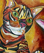 Cat Portraits Prints - Eli Print by Patti Schermerhorn