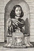 Statue Portrait Prints - Elias Ashmole, English Antiquary Print by Middle Temple Library