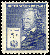 Postage Stamp Prints - Elias Howe (1819-1867) Print by Granger