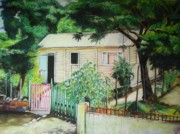 Republic Pastels Prints - Elida House Print by Yxia Olivares