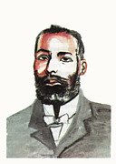 Negro Drawings Framed Prints - Elijah McCoy Framed Print by Emmanuel Baliyanga