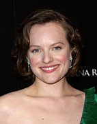 Mad Men Framed Prints - Elisabeth Moss At Arrivals For Amcs Mad Framed Print by Everett