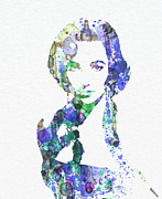 Golden Digital Art Prints - Elithabeth Taylor Print by Irina  March