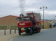 Seaside Posters - Elizabeth - Steam Bus at Whitby Poster by Rod Johnson