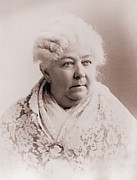 Social Movements Prints - Elizabeth Cady Stanton 1815-1902 Print by Everett