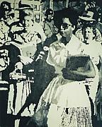 Black History Paintings - Elizabeth Eckford making her way to Little Rock High School 1958 by Lauren Luna