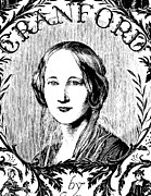 Novelist Framed Prints - ELIZABETH GASKELL (1810-1865). English novelist. Wood engraving, 19th century Framed Print by Granger