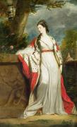 Cloak Paintings - Elizabeth Gunning - Duchess of Hamilton and Duchess of Argyll by Sir Joshua Reynolds