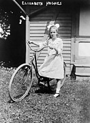 1910s Portrait Posters - Elizabeth Hughes, With Bicycle. Ca Poster by Everett