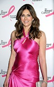 Satin Dress Photo Framed Prints - Elizabeth Hurley At Arrivals For Hot Framed Print by Everett