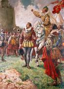 Spanish Prints - Elizabeth I the Warrior Queen Print by CL Doughty
