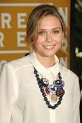 Bib Shirt Prints - Elizabeth Olsen At Arrivals Print by Everett