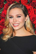 Eyeliner Framed Prints - Elizabeth Olsen At Arrivals For Momas Framed Print by Everett
