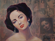 Elizabeth Taylor Paintings - Elizabeth by Stapler-Kozek