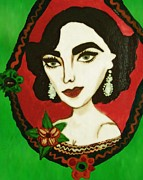 Elizabeth Taylor Painting Originals - Elizabeth Taylor by Ana Dragan
