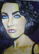 Elizabeth Taylor Paintings - Elizabeth Taylor by Bobbi West