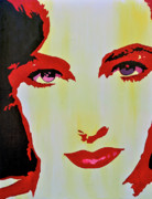 Elizabeth Taylor Paintings - Elizabeth Taylor by Brad Jensen