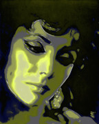 Ups Digital Art Metal Prints - Elizabeth Taylor Metal Print by Byron Fli Walker