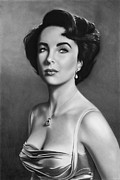 Elizabeth Taylor Drawings - Elizabeth Taylor drawing 3 by John Harding