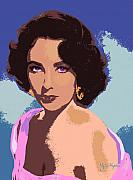 Movie Stars Framed Prints - Elizabeth Taylor Framed Print by John Keaton