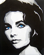 Elizabeth Taylor Painting Originals - Elizabeth Taylor by Michael James  Toomy